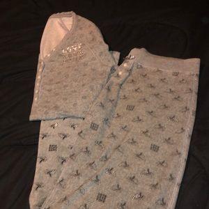 Pink Victoria's Secret Two Piece Winter Pajama Set